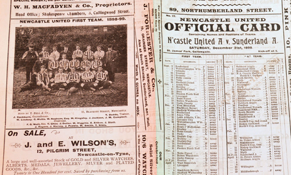 How Football Programmes Provide an Insight into Print History
