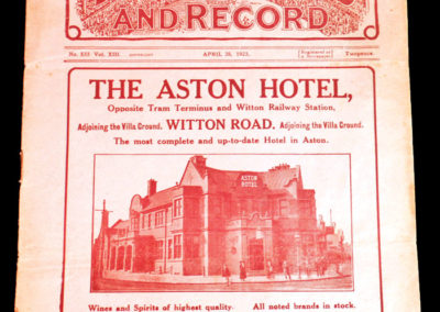 Aston Villa Reserves v Bolton Reserves 28.04.1923