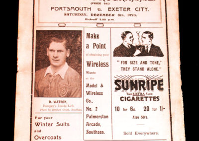 Portsmouth v Exeter 08.12.1923
