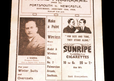 Portsmouth v Newcastle 12.01.1924