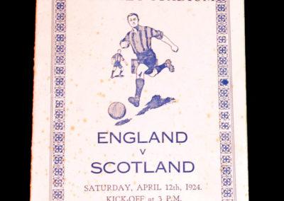 England v Scotland 12.04.1924