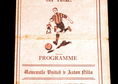 FA Cup Final - Newcastle v Aston Villa 26.04.1924 - Pirate Programme