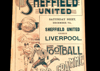 Sheffield United Reserves v Heely Friends 30.11.1901