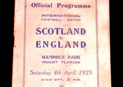 Scotland v England 04.04.1925