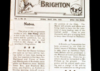 New Brighton v Hartlepool 10.04.1925