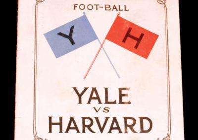 Yale v Harvard 21.11.1925 0-0 apparently