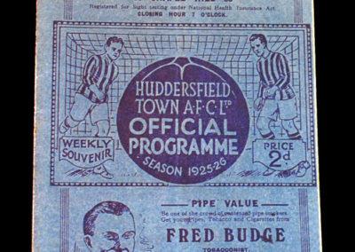 Huddersfield Reserves v Liverpool 06.03.1926