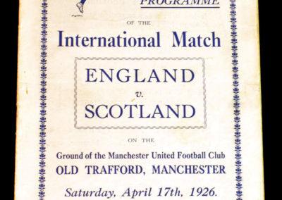 England v Scotland 17.04.1926