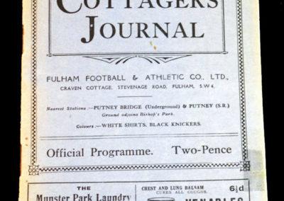 Fulham v Bradford City 30.10.1926