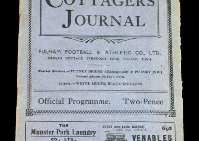 Fulham v Manchester City 15.01.1927