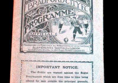 Bradford City v Burnley 20.04.1908