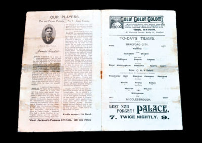 Bradford City v Middlesbrough 27.12.1909 Steve Bloomer and Alf Common in the same forward line