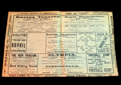 Whites v Stripes 31.01.1910 England Trial Match