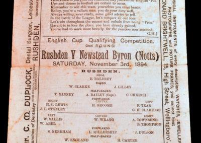 Rushden v Newstead Byron 03.11.1894