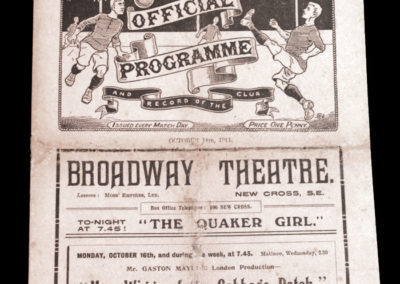 Woolwich Arsenal v Bradford City 14.10.1911