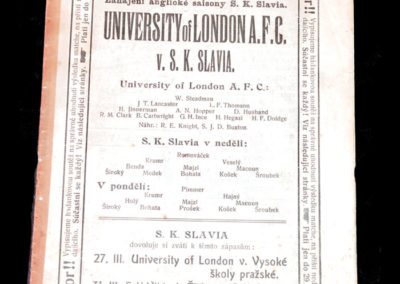 University of London v SK Slavia 24.03.1912