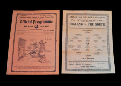 England v The South 25.11.1912 Pirate programmes on sale even then