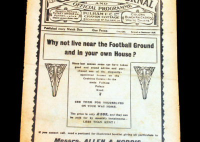 Fulham v Grimsby 22.11.1913 & England v The South 24.11.1913