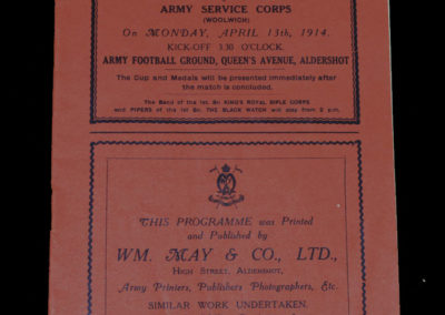 Army Cup Final - Hampshire v Woolwich 13.04.1914