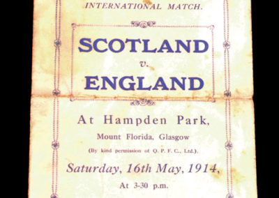 Scotland v England - Schools International 16.05.1914