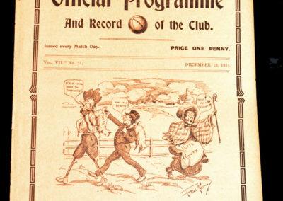 Spurs v Sunderland 19.12.1914