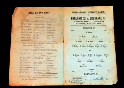 England v Scotland 13.05.1916 - Military International