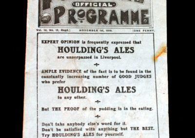 Liverpool v Burnley 01.11.1919