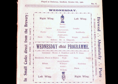 Sheffield Wednesday v Preston 06.10.1900
