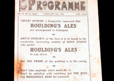 Liverpool v Birmingham 21.02.1920