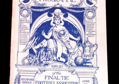 FA Cup Final - Aston Villa v Huddersfield 24.04.1920