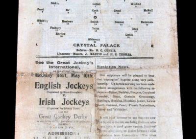 Chelsea V Crystal Palace 08.05.1920 (played at Arsenal)
