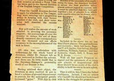 Cardiff v Clapton 30.08.1920