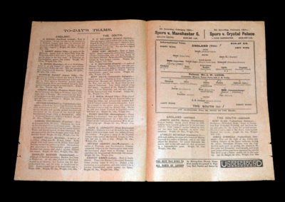 England v The South - Trial Match - 07.02.1921