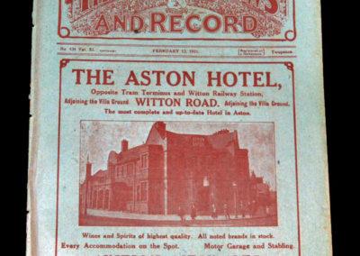 Aston Villa v Sunderland 12.02.1921