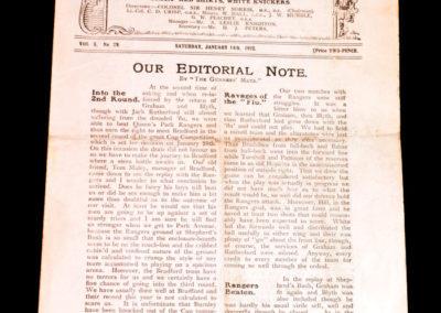 Arsenal v Chelsea 14.01.1922