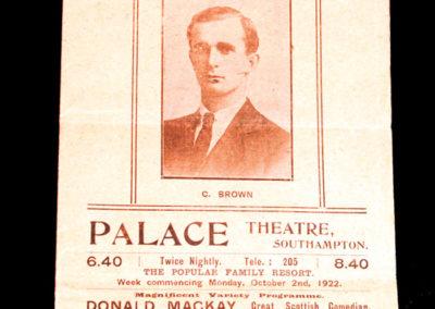 Southampton v Blackpool 30.09.1922