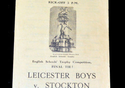 Stockton v Leicester Boys 11.05.1946 Final First Leg