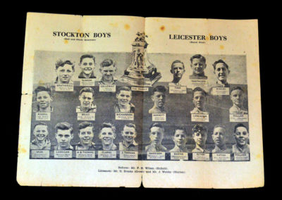 Stockton v Leicester Boys 18.05.1946 Final Second Leg