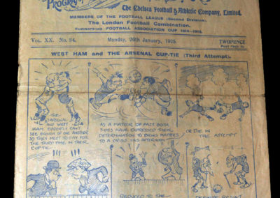 West Ham v Arsenal 26.01.1925 (played at Chelsea)