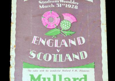 England v Scotland 31.03.1928 Alex Jackson hat trick in a 5-1 win for Scotland