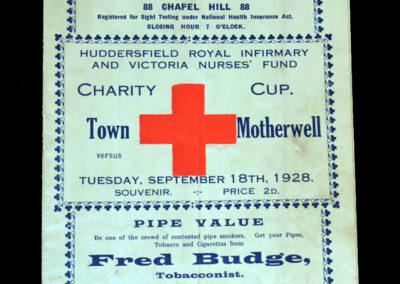 Huddersfield v Motherwell 18.09.1928
