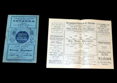 Huddersfield v Everton 22.09.1928 | Huddersfield v Blackburn 06.10.1928