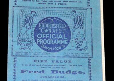 Huddersfield v Derby 25.12.1928