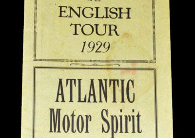 South Africa Tour Souvenir June - July 1929