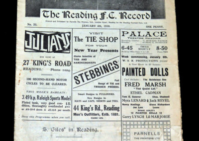 Reading v Bristol City 04.01.1930