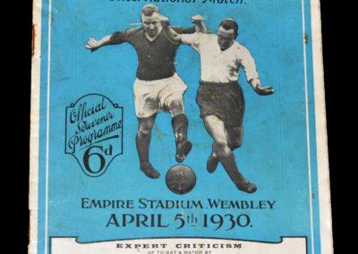 England v Scotland 05.04.1930