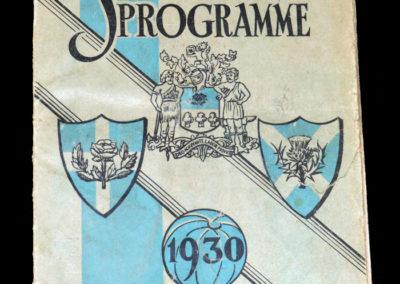 England v Scotland Schools 21.04.1930