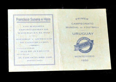 World Cup Fixture Card 1930