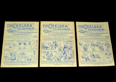 Chelsea v Villa 19.09.1931 | Chelsea v Liverpool 03.10.1931 | Chelsea v Derby 07.11.1931