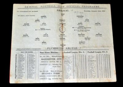 Arsenal v Plymouth 23.01.1932